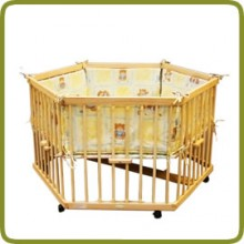 Playpen hexagonal + insert yellow - Parques y andadores