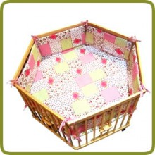 Hexagonal playpen insert rose - Parques y andadores