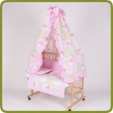 Bed side cot all inclusive 90x40cm, rose - Cunas