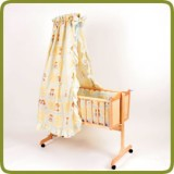 Cradle incl. bedlinen set yellow  - Minicunas y hamacas